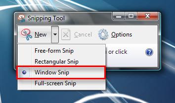 طريقة عمل صورة للشاشة  (screenshot) Snipping_Tool_6