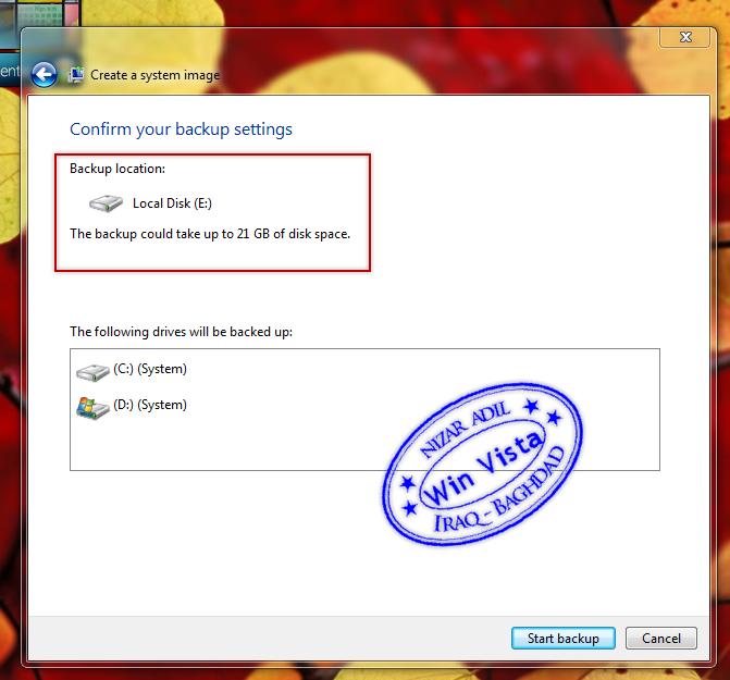 كيفية عمل نسخة احتياطية '' Backup '' للنظام في Windows Se7en  Si_5