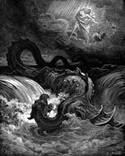 La Cause des causes - La connaissance du mal - démasquer le Malin et son clergé 250px-Destruction_of_Leviathan