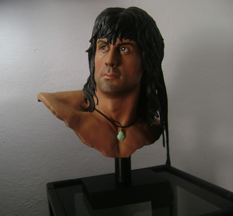 Rambo buste life size Rambo1-1