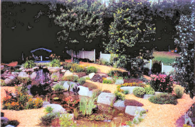 [Jardin de Kitaïbélia] Construction bassin 2002 F1743723