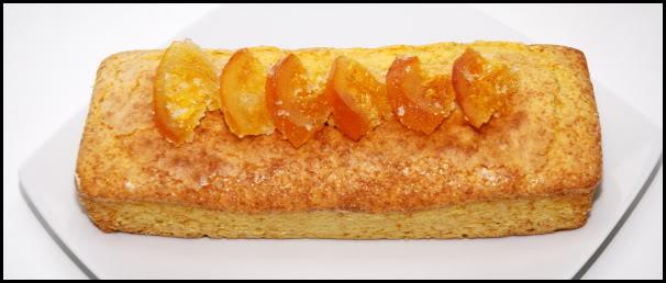 Bizcocho de naranja con glasa blanca de cobertura BizcochoNaranja2