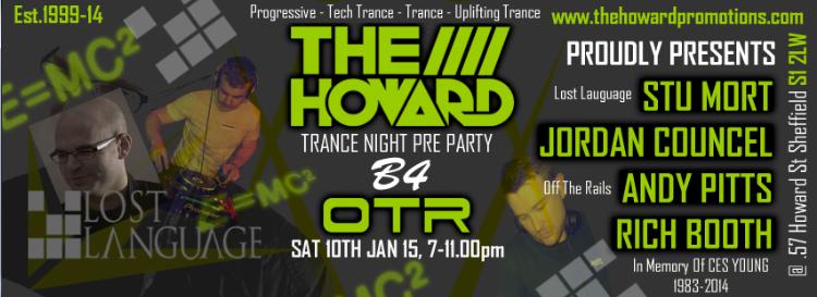 The Howard Promo Trance Night Pre Party B4 OTR 10/1/15 TheHowardPromoPrePartyB4OTRSat10thJan2015V2_zps017f33d2