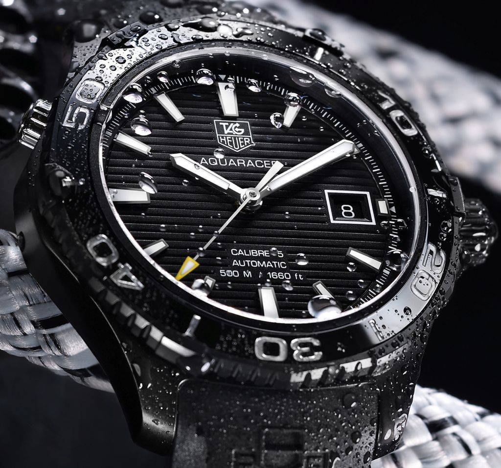 Tag Heuer's New Aquaracer 500m Ceramic AQUARACER-500M-Full-Black-Close-