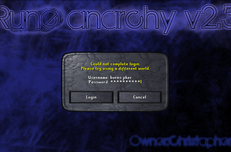 Could not complete Log-In.. (Read Mods/Admins) 0000-1