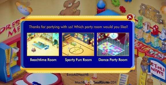 Visual Party room code Partyroom