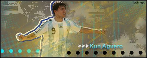 Kun Aguero, muy original Kunaguero