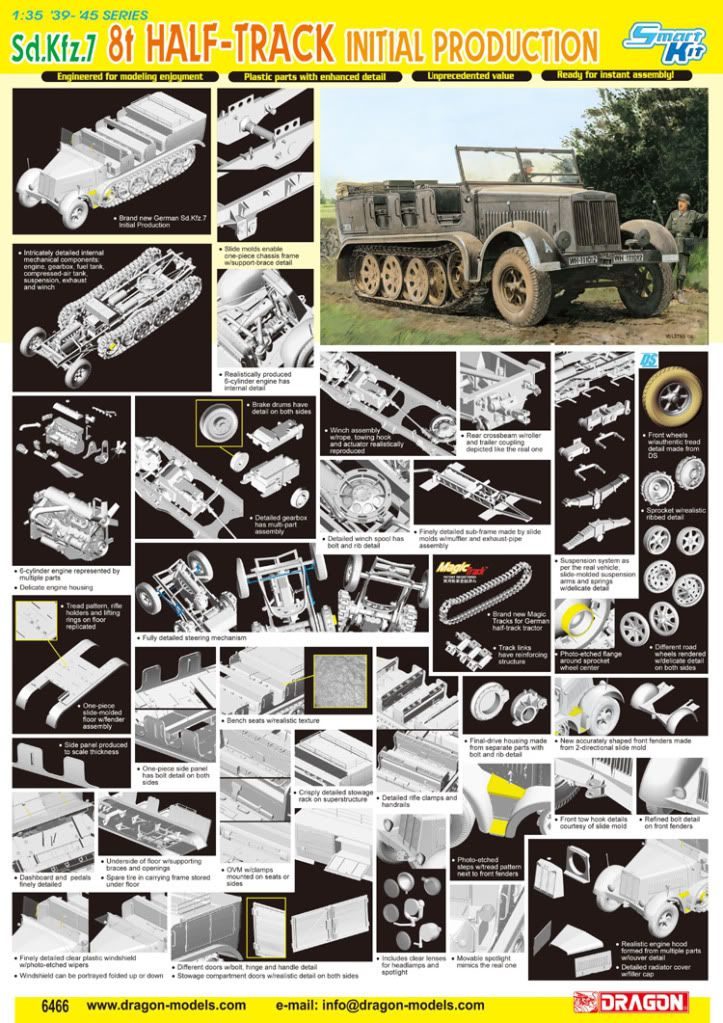 Sd.Kfz.7 8t Half-Track Initial Production from Dragon 6466poster