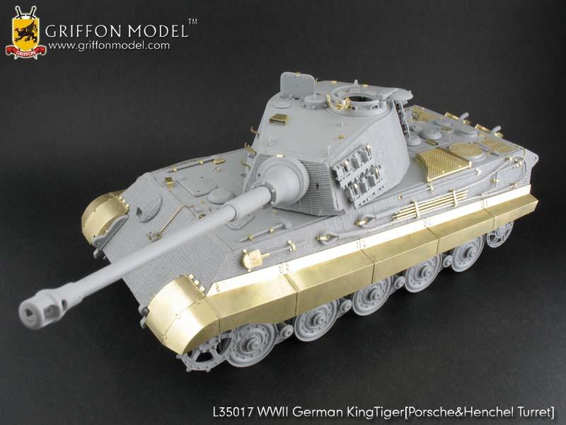 GRIFFON MODELS WWII German King Tiger (Porsche & Henchel Turret) update set. Boxart