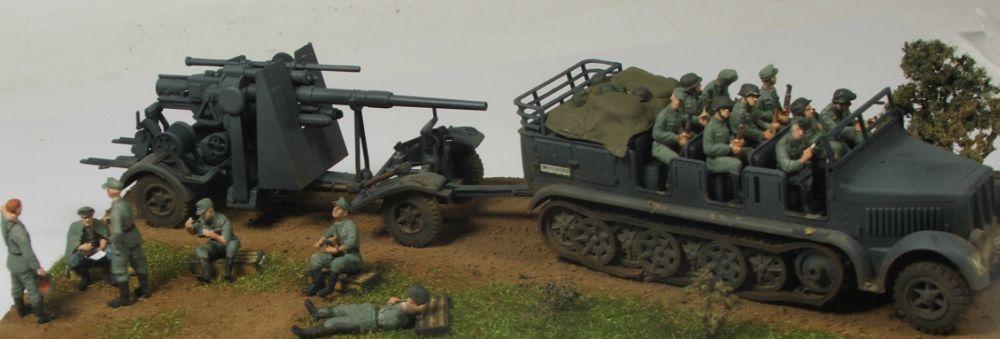 Mels build . A big gun and big half track 88mmgunandhalftrack10