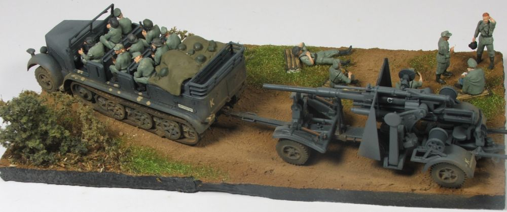 Mels build . A big gun and big half track 88mmgunandhalftrack6