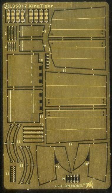 GRIFFON MODELS WWII German King Tiger (Porsche & Henchel Turret) update set. FretA