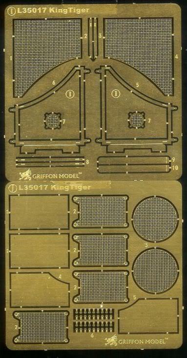 GRIFFON MODELS WWII German King Tiger (Porsche & Henchel Turret) update set. FretIJ