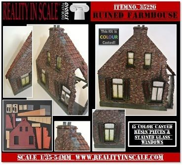 New from Reality in Scale 35220_Ruined_Farmhouse