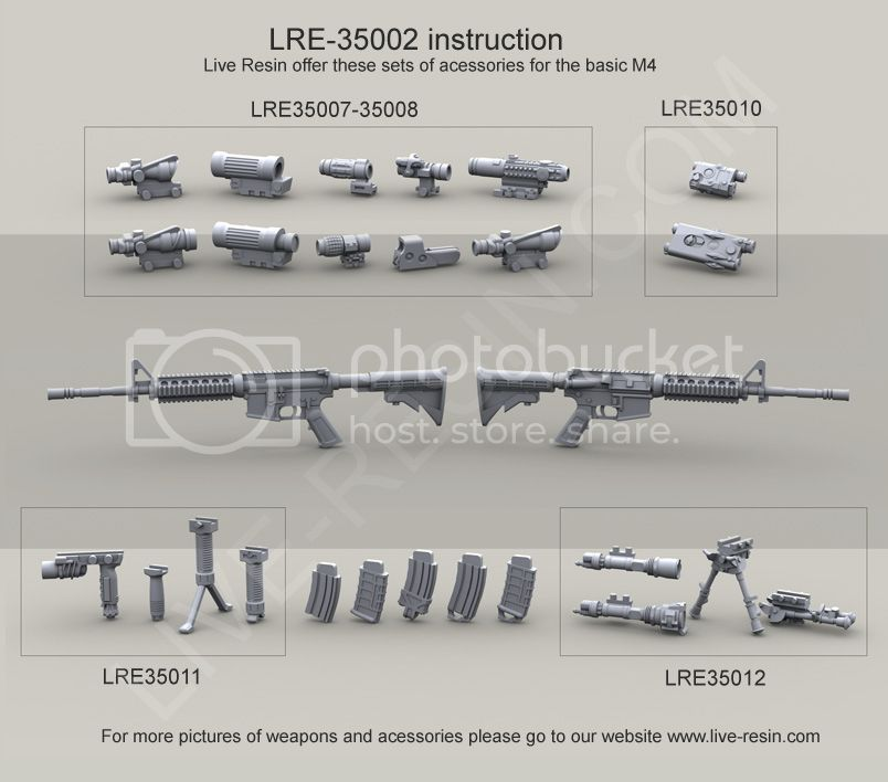 Live Resin 35002 US Army M4 carbine with rail interface system  LiveResin350022