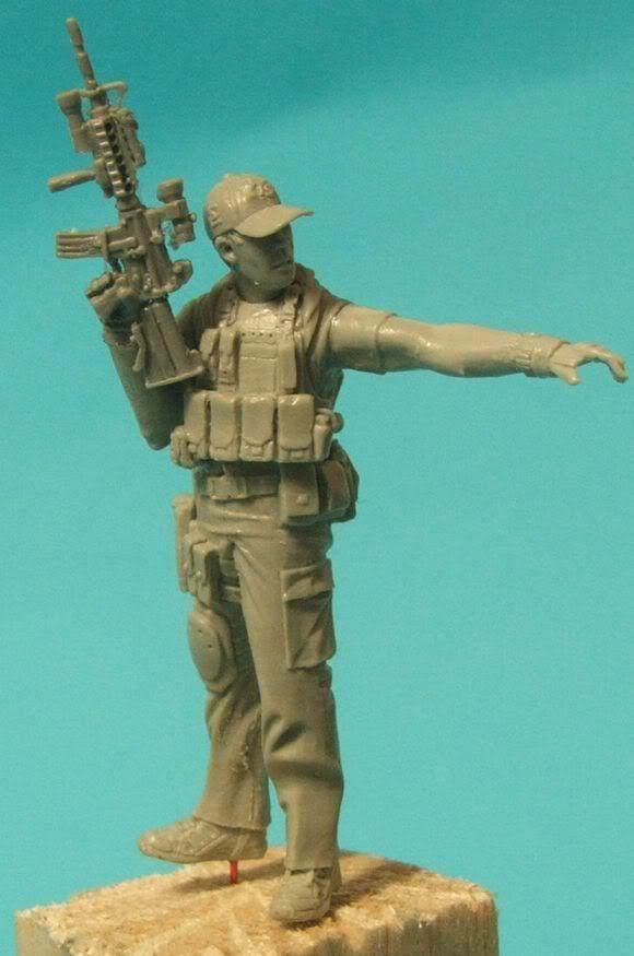 "New World Miniatures Private Military Contractor ""Rambo"" NewworldminiaturesRambo006"