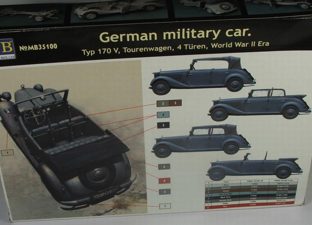 Masterbox German Military Car Typ 170V Tourenwagen  Tourenwagen6
