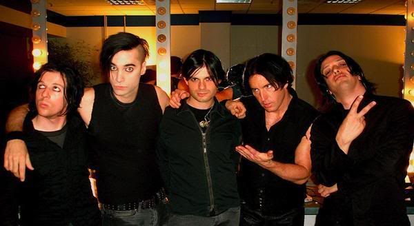 L-R Aaron North, Jerome Dillon, Alessandro Cortini, Trent Reznor, Jeordie White Pictures, Images and Photos