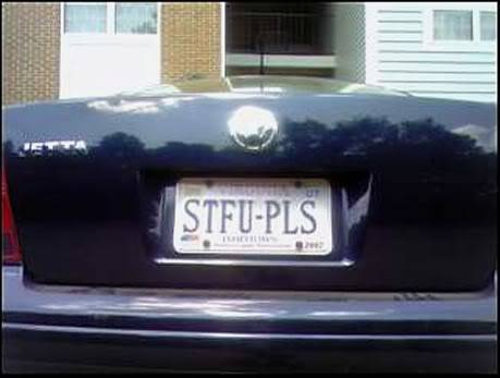 Funny plates Stfu