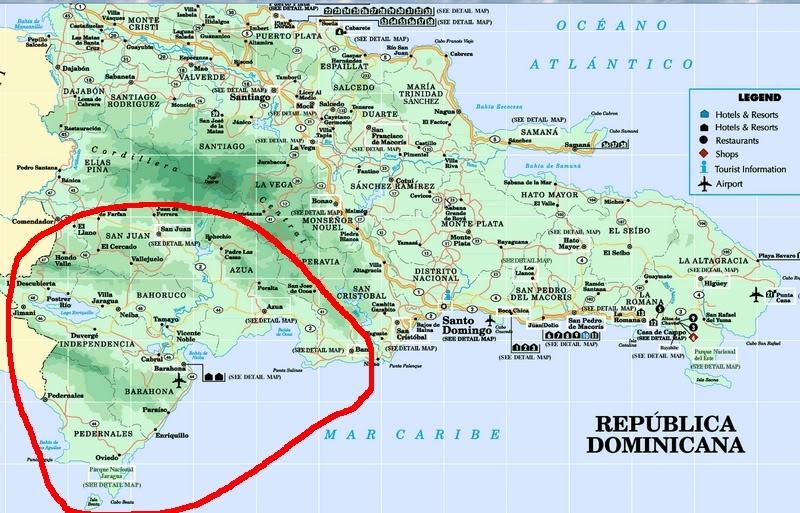 République Dominicaine. Le sud RD1