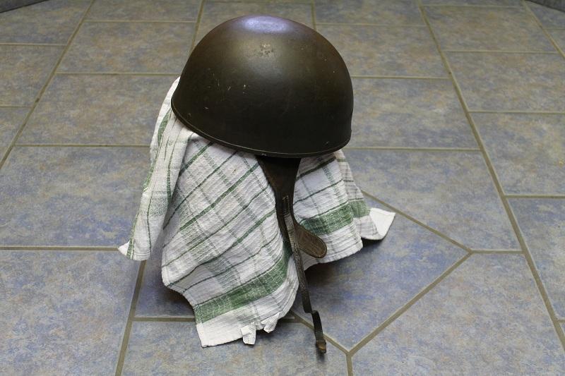 Canadian MkIII helmets, British Dispatch rider's helmet, MkI AB 805 helmet 032