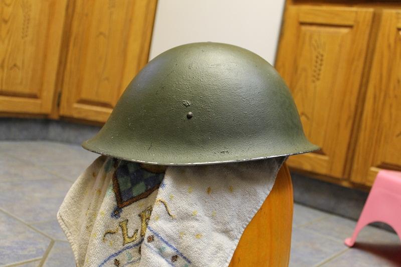 Canadian MkIII helmets, British Dispatch rider's helmet, MkI AB 805 helmet IMG_1799