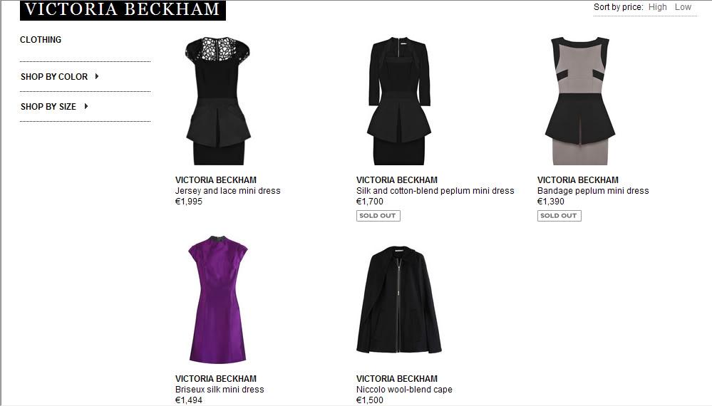 Victoria Beckham collection de venta en Net a Porter Netaporter