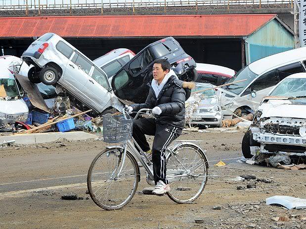 Imágenes de catástrofe en Japón O