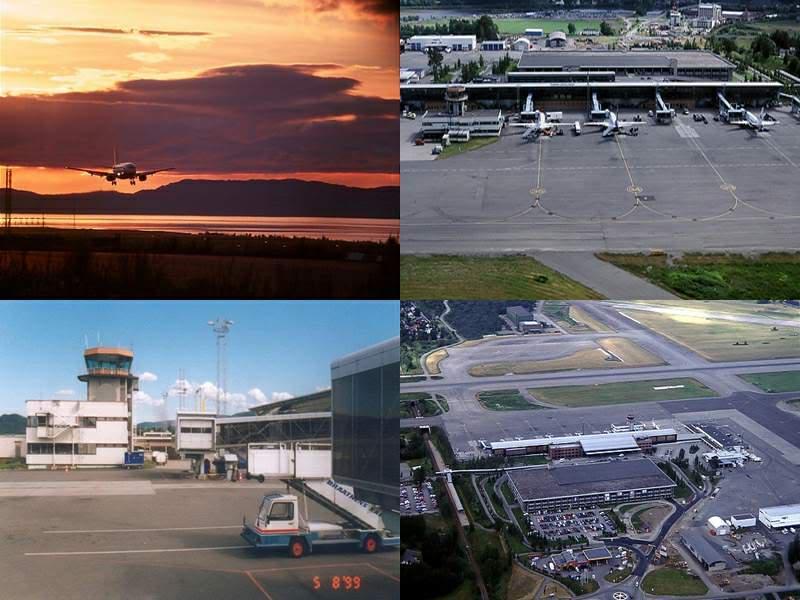 Aproximação Trondheim...um lindo Aeroporto Aeroportocopy