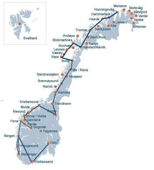 Hammerfest - Honningsvag...encontrando uma linda cidade MapaNoruega1-3