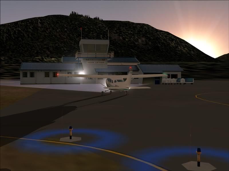 Hasvik - Hammerfest... com Cessna 182, Real x virtual , lindos cenarios ... Foto-2008-aug-15-002