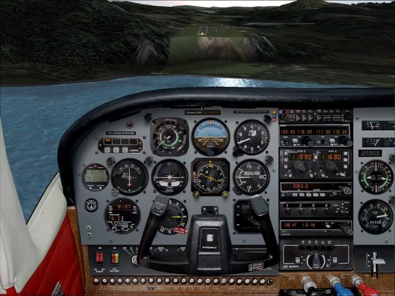 Hasvik - Hammerfest... com Cessna 182, Real x virtual , lindos cenarios ... Foto-2008-aug-15-011