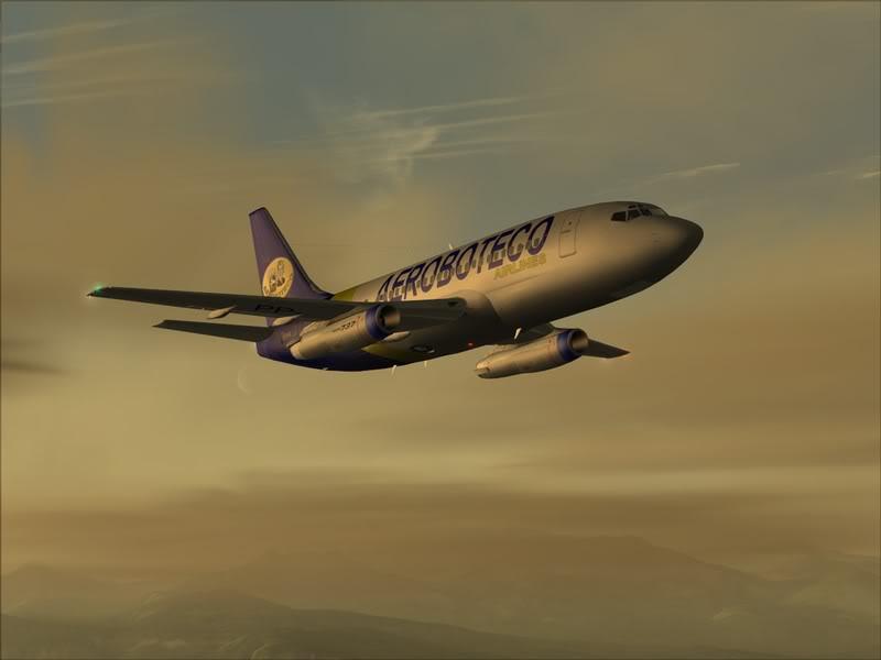 FS9 -NARVIK - THOMSO.....um lindo final de tarde,de 737-200... matando saudades... Foto-2008-jul-30-015