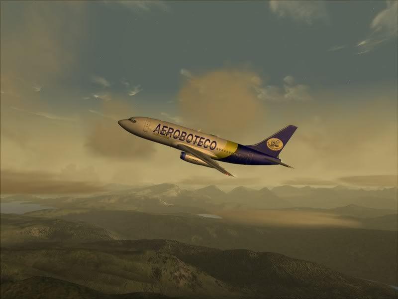 FS9 -NARVIK - THOMSO.....um lindo final de tarde,de 737-200... matando saudades... Foto-2008-jul-30-016