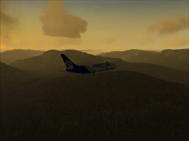 FS9 -NARVIK - THOMSO.....um lindo final de tarde,de 737-200... matando saudades... Foto-2008-jul-30-017
