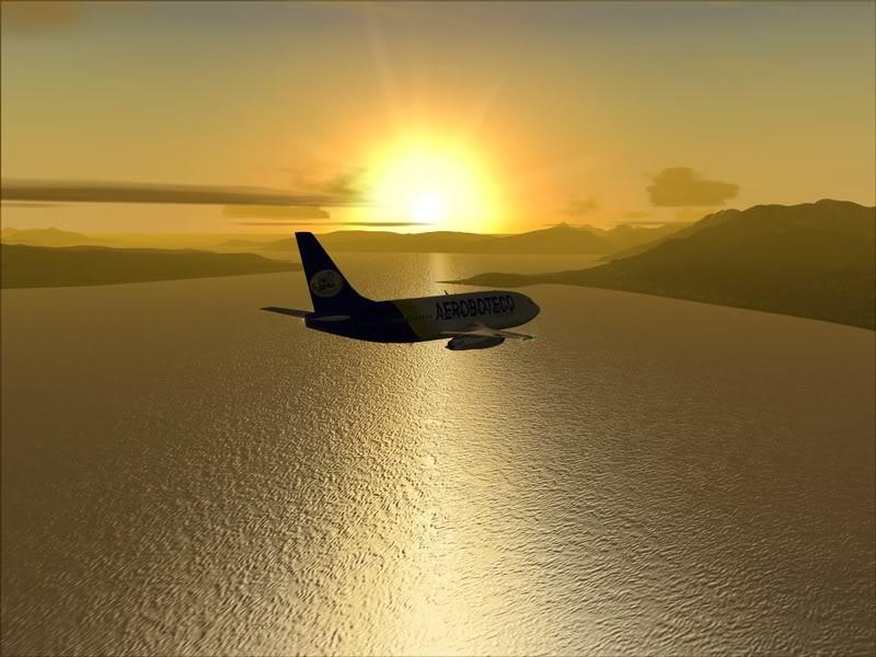 FS9 -NARVIK - THOMSO.....um lindo final de tarde,de 737-200... matando saudades... Foto-2008-jul-30-020