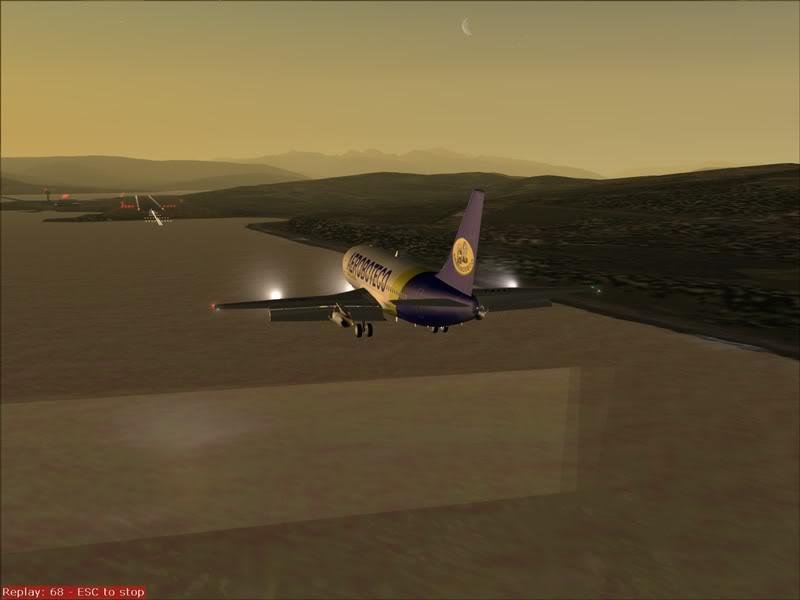FS9 - Final em Tromso.... que Sol,um belo aeroporto ... Foto-2008-jul-30-026
