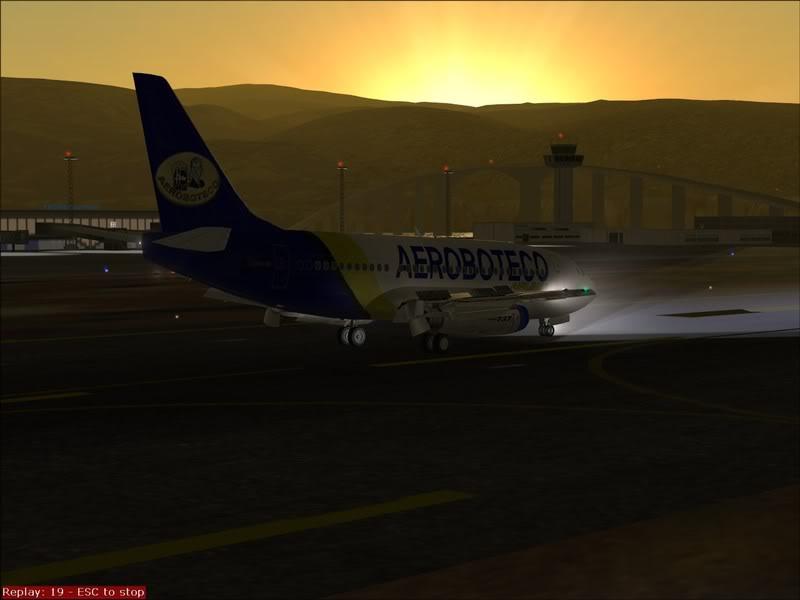 FS9 - Final em Tromso.... que Sol,um belo aeroporto ... Foto-2008-jul-30-043