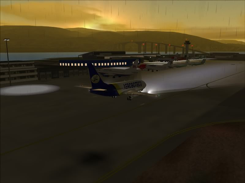 FS9 - Final em Tromso.... que Sol,um belo aeroporto ... Foto-2008-jul-30-046