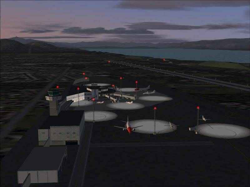 Momentos finais para pouso em BODO...,mais um lindo Aeroporto... Foto-2008-jun-22-060
