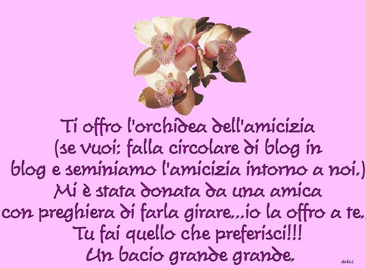 UN GRANDE TRAGUARDO :NOZZE D'ARGENTO PER ANNAJ Orchidea