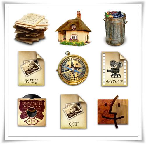 %% أيقونات للتصميم والجرفكس Icons %% Antique