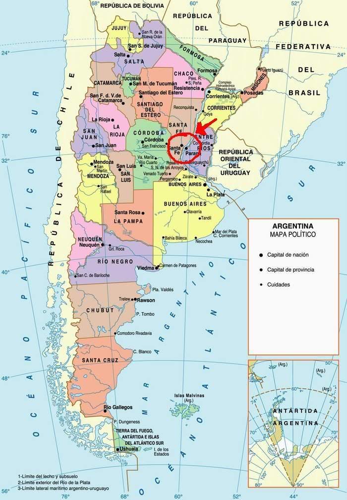 Hay algo raro en estas imagenes... Veanlas! Argentina-mapa-politico