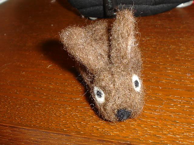 Coniglietto e folletta, lana cardata DSC02797