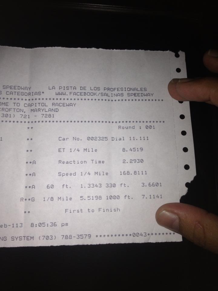 Nuevo record para auto de calle mas rapido de Puerto Rico!! 531692_506650459385738_304636215_n_zpsa1425a78