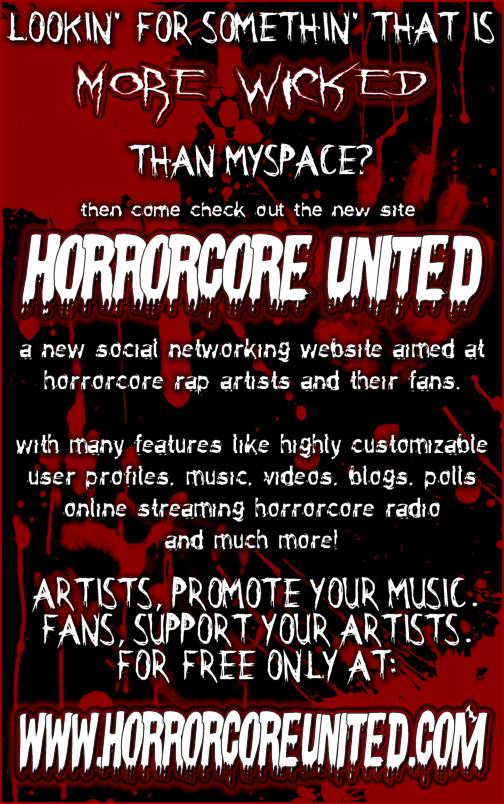 Horrorcore United Horrcoreunitedflyer