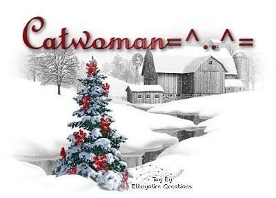 Catwoman Christmas Farm