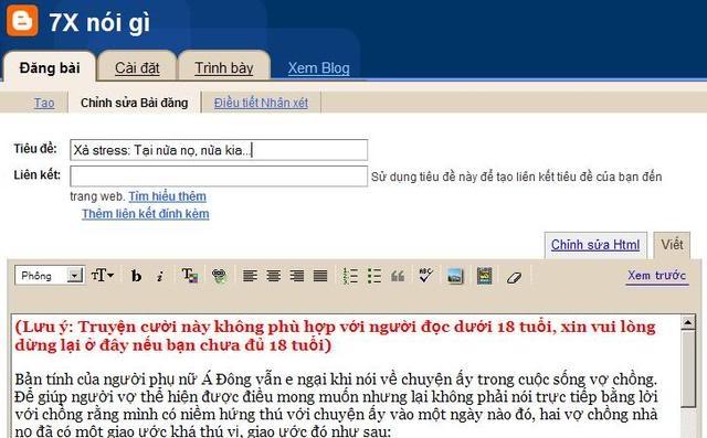 Thủ thuật Blogger: Đặt tên trang lưu entry bằng tiếng Việt không dấu ChinhsualaidungtheotentiengViet