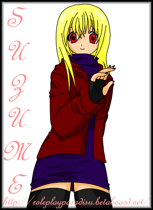 My Roleplay Characters Suzume-animmortalworld