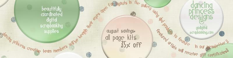 35% off Page Kit Sale at GDS Dancingprincess_augbannerad